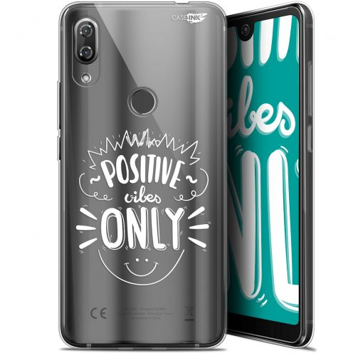 """Coque Gel Wiko View 2 Pro (6"""") Extra Fine Motif -  Positive Vibes Only"""