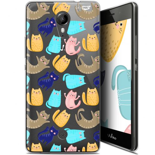 "Coque Gel Wiko Tommy (5"") Extra Fine Motif - Chat Danse"
