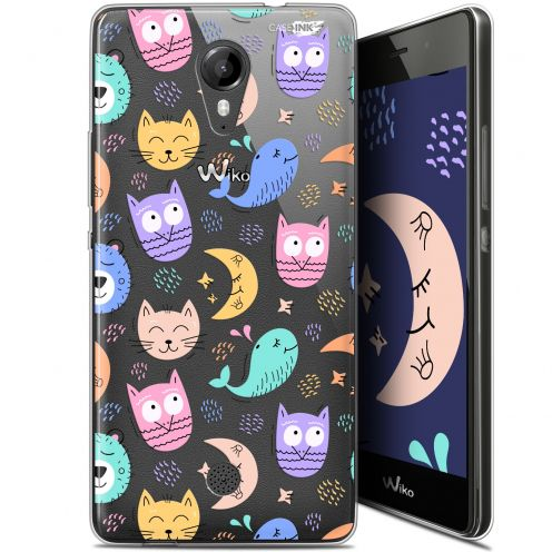 "Coque Gel Wiko Tommy (5"") Extra Fine Motif - Chat Hibou"