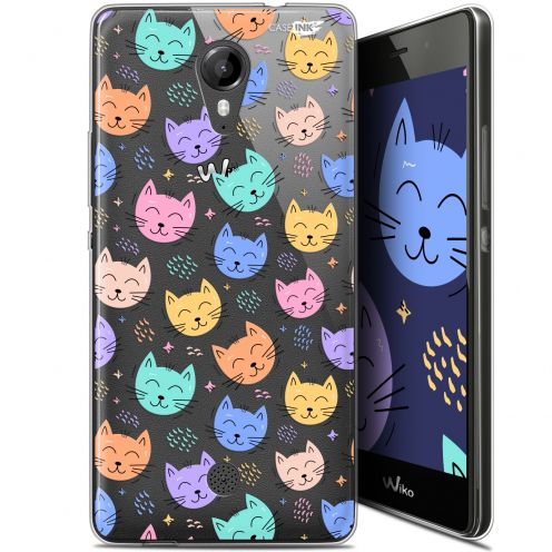 """Coque Gel Wiko Tommy (5"""") Extra Fine Motif -  Chat Dormant"""