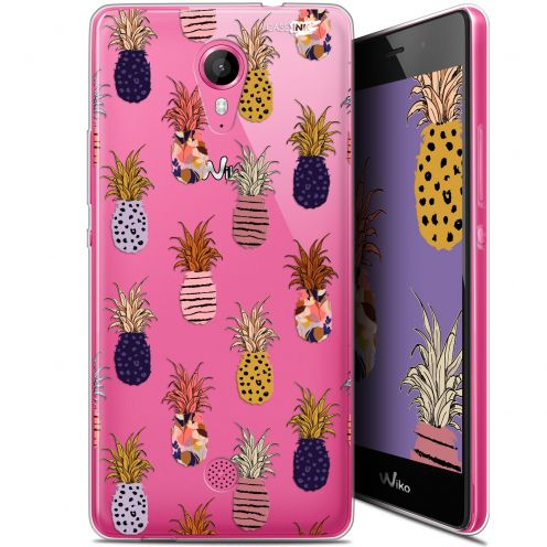 "Coque Gel Wiko Tommy (5"") Extra Fine Motif - Ananas Gold"