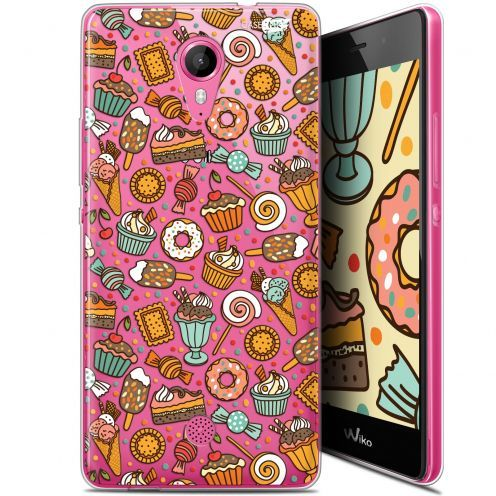 """Coque Gel Wiko Tommy (5"""") Extra Fine Motif -  Bonbons"""