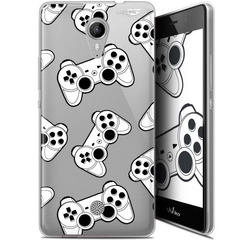 "Coque Gel Wiko Tommy (5"") Extra Fine Motif - Game Play Joysticks"