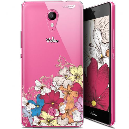 """Coque Gel Wiko Tommy (5"""") Extra Fine Motif -  Nuage Floral"""