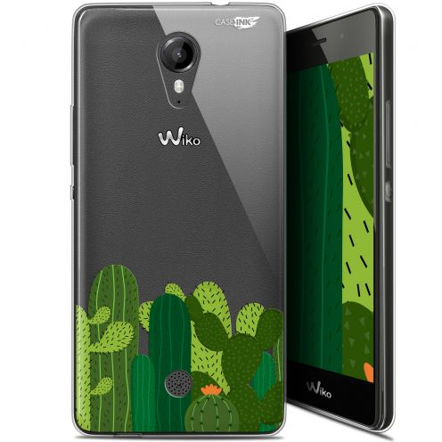 "Coque Gel Wiko Tommy (5"") Extra Fine Motif - Cactus"