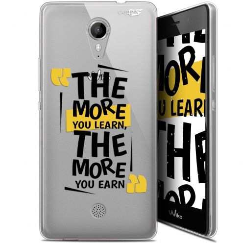 """Coque Gel Wiko Tommy (5"""") Extra Fine Motif -  The More You Learn"""