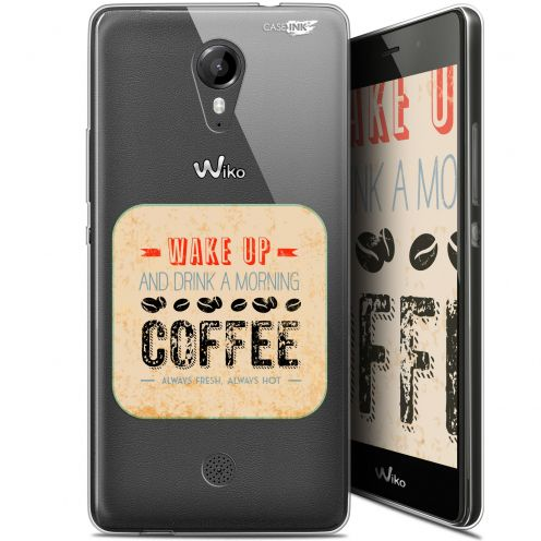 """Coque Gel Wiko Tommy (5"""") Extra Fine Motif -  Wake Up With Coffee"""