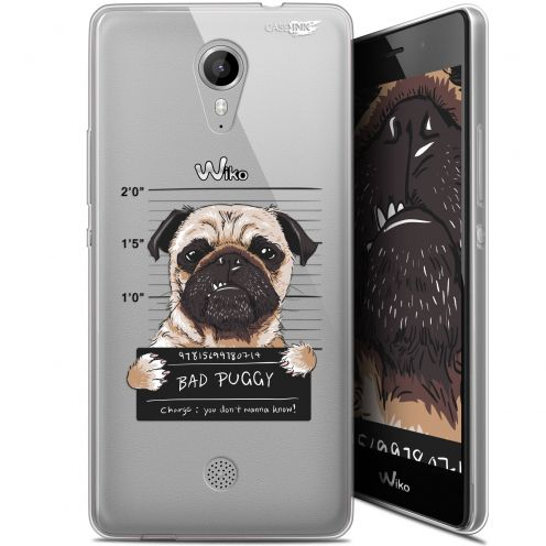 """Coque Gel Wiko Tommy (5"""") Extra Fine Motif -  Beware The Puggy Dog"""