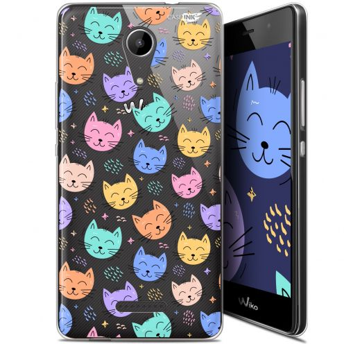 "Coque Gel Wiko Tommy 2 (5"") Extra Fine Motif -  Chat Dormant"