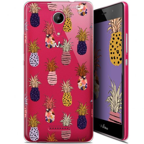 """Coque Gel Wiko Tommy 2 (5"""") Extra Fine Motif - Ananas Gold"""