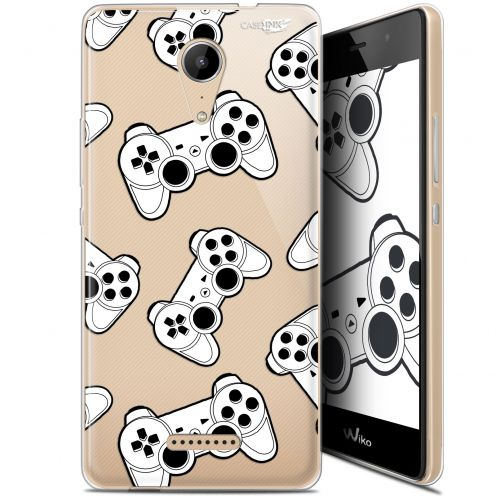 "Coque Gel Wiko Tommy 2 (5"") Extra Fine Motif -  Game Play Joysticks"