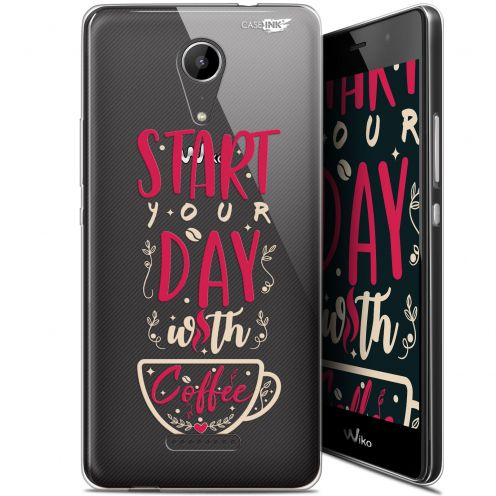 "Coque Gel Wiko Tommy 2 (5"") Extra Fine Motif -  Start With Coffee"