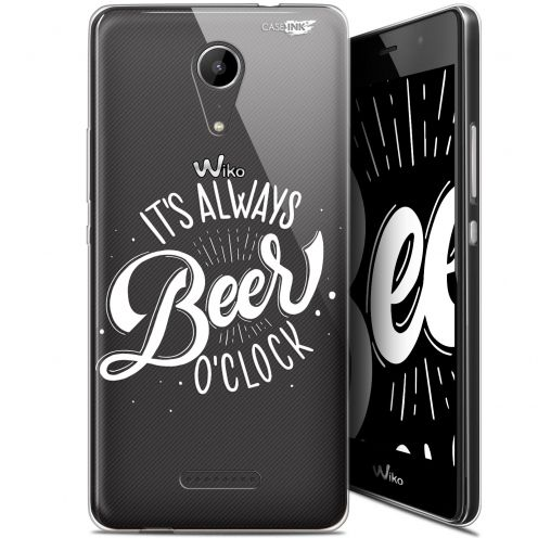 "Coque Gel Wiko Tommy 2 (5"") Extra Fine Motif -  Its Beer O'Clock"