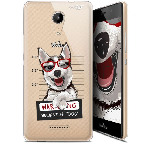 "Coque Gel Wiko Tommy 2 (5"") Extra Fine Motif -  Beware The Husky Dog"