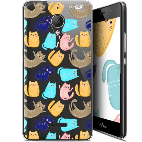"Coque Gel Wiko Tommy 2 Plus (5.5"") Extra Fine Motif - Chat Danse"
