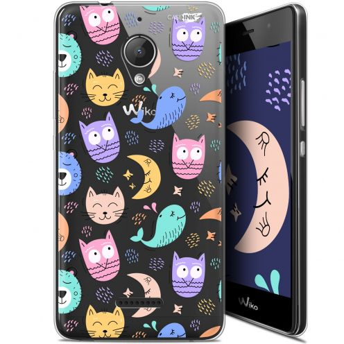 "Coque Gel Wiko Tommy 2 Plus (5.5"") Extra Fine Motif - Chat Hibou"