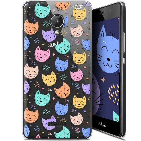 "Coque Gel Wiko Tommy 2 Plus (5.5"") Extra Fine Motif - Chat Dormant"