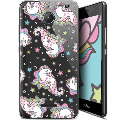 "Coque Gel Wiko Tommy 2 Plus (5.5"") Extra Fine Motif - Licorne Dormante"