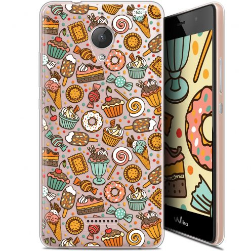"Coque Gel Wiko Tommy 2 Plus (5.5"") Extra Fine Motif -  Bonbons"