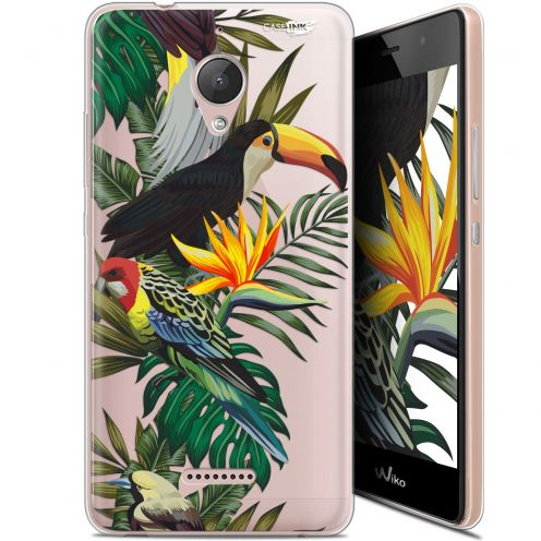 "Coque Gel Wiko Tommy 2 Plus (5.5"") Extra Fine Motif - Toucan Tropical"