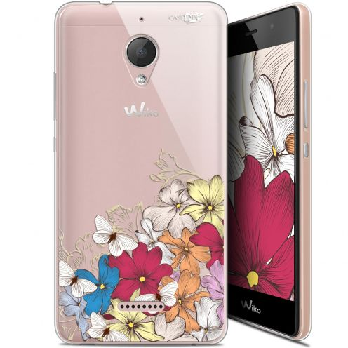 "Coque Gel Wiko Tommy 2 Plus (5.5"") Extra Fine Motif -  Nuage Floral"