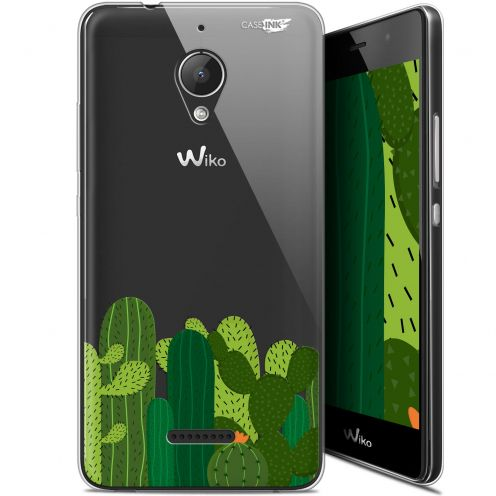 "Coque Gel Wiko Tommy 2 Plus (5.5"") Extra Fine Motif -  Cactus"