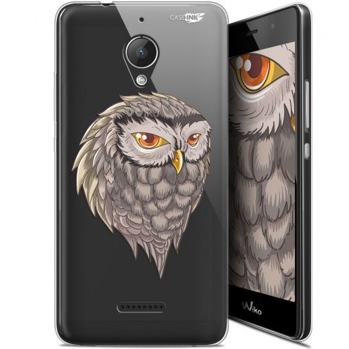 "Coque Gel Wiko Tommy 2 Plus (5.5"") Extra Fine Motif -  Hibou Draw"