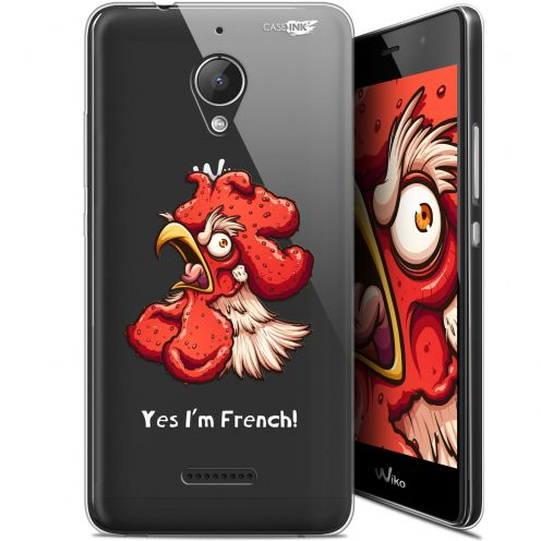 "Coque Gel Wiko Tommy 2 Plus (5.5"") Extra Fine Motif -  I'm French Coq"