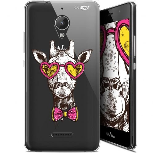 "Coque Gel Wiko Tommy 2 Plus (5.5"") Extra Fine Motif -  Hipster Giraffe"