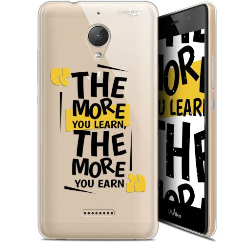 "Coque Gel Wiko Tommy 2 Plus (5.5"") Extra Fine Motif -  The More You Learn"