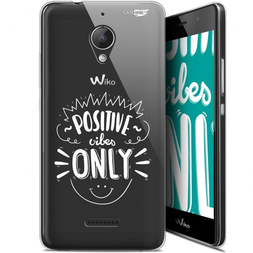 "Coque Gel Wiko Tommy 2 Plus (5.5"") Extra Fine Motif -  Positive Vibes Only"