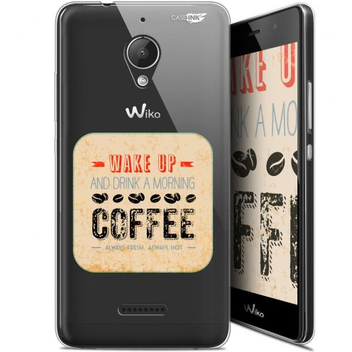 "Coque Gel Wiko Tommy 2 Plus (5.5"") Extra Fine Motif - Wake Up With Coffee"