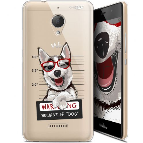 "Coque Gel Wiko Tommy 2 Plus (5.5"") Extra Fine Motif - Beware The Husky Dog"