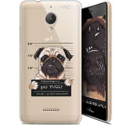 "Coque Gel Wiko Tommy 2 Plus (5.5"") Extra Fine Motif - Beware The Puggy Dog"