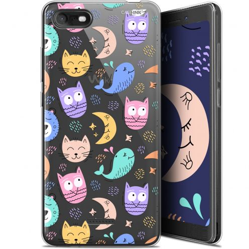 "Coque Gel Wiko Tommy 3 (5.45"") Extra Fine Motif - Chat Hibou"