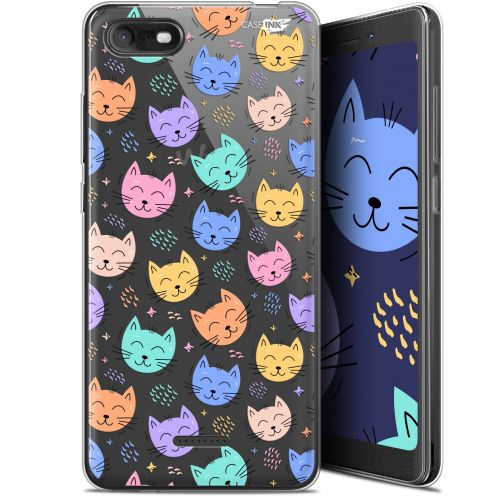 """Coque Gel Wiko Tommy 3 (5.45"""") Extra Fine Motif -  Chat Dormant"""