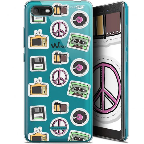 """Coque Gel Wiko Tommy 3 (5.45"""") Extra Fine Motif -  Vintage Stickers"""