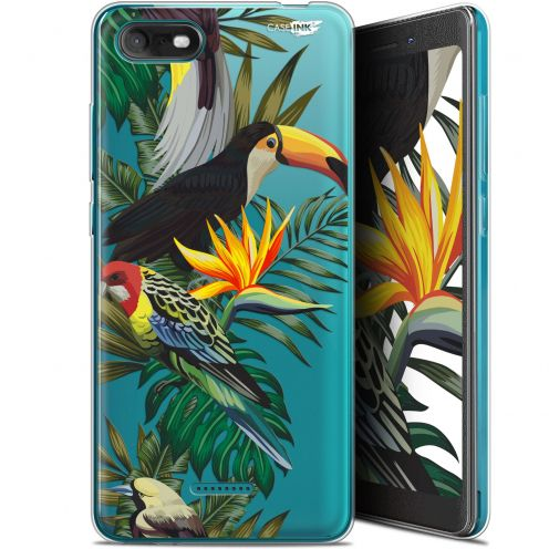 """Coque Gel Wiko Tommy 3 (5.45"""") Extra Fine Motif -  Toucan Tropical"""