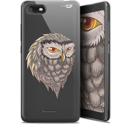 "Coque Gel Wiko Tommy 3 (5.45"") Extra Fine Motif - Hibou Draw"