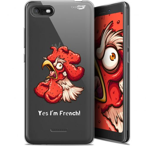 """Coque Gel Wiko Tommy 3 (5.45"""") Extra Fine Motif -  I'm French Coq"""