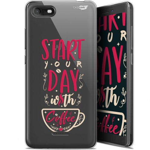 """Coque Gel Wiko Tommy 3 (5.45"""") Extra Fine Motif -  Start With Coffee"""