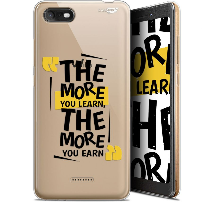"""Coque Gel Wiko Tommy 3 (5.45"""") Extra Fine Motif - The More You Learn"""