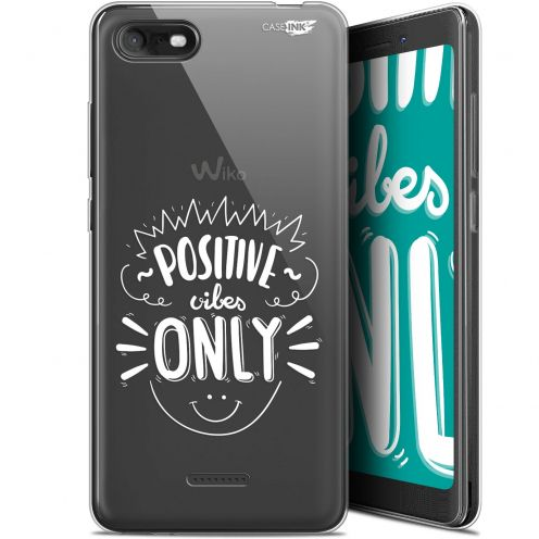 """Coque Gel Wiko Tommy 3 (5.45"""") Extra Fine Motif - Positive Vibes Only"""
