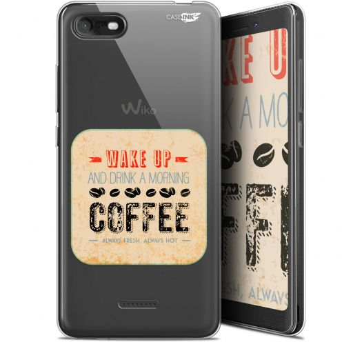 """Coque Gel Wiko Tommy 3 (5.45"""") Extra Fine Motif -  Wake Up With Coffee"""