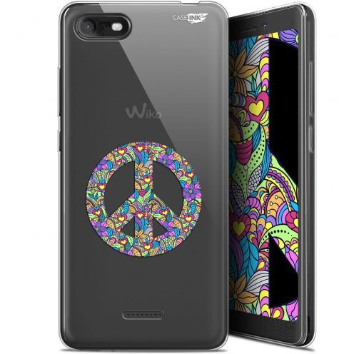 """Coque Gel Wiko Tommy 3 (5.45"""") Extra Fine Motif - Peace And Love"""