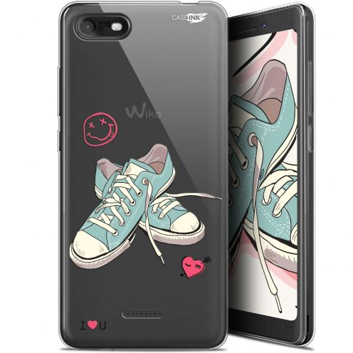 """Coque Gel Wiko Tommy 3 (5.45"""") Extra Fine Motif -  Mes Sneakers d'Amour"""