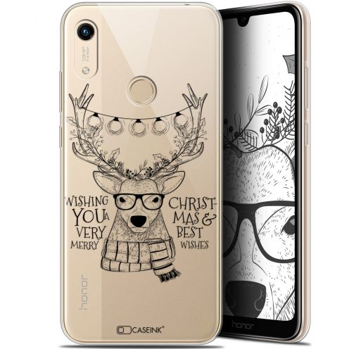 """Coque Gel Huawei Honor 8A (6.1"""") Extra Fine Noël 2017 - Cerf Hipster"""