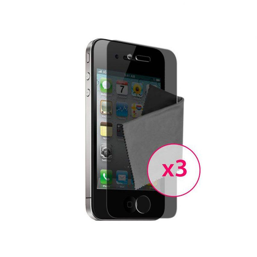 Zoom sur Films de protection Privacy iPhone 4 / 4S Clubcase ® Lot de 3