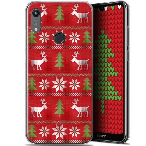 """Coque Gel Huawei Honor 8A (6.1"""") Extra Fine Noël 2017 - Couture Rouge"""