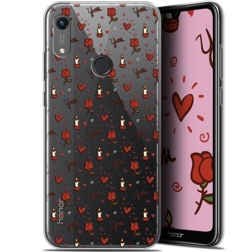 """Coque Gel Huawei Honor 8A (6.1"""") Extra Fine Love - Bougies et Roses"""